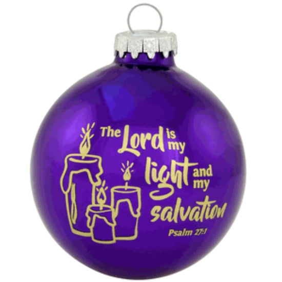 The Lord is My Light & Salvation Christmas Ball Ornament - Bronner Psalm 27:1