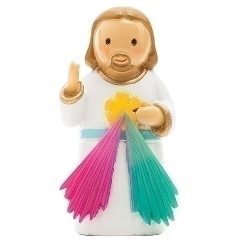 "Jesus Divine Mercy 3.25"" Statue - Little Drops of Water Series"