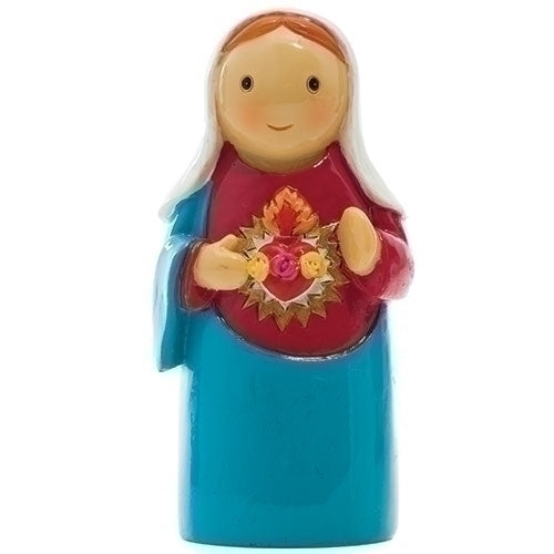 "Immaculate Heart of Mary 3.25"" Statue - Little Drops of Water Series"