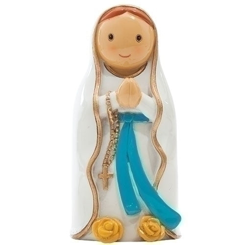 "Our Lady of Lourdes 3.25"" Statue - Little Drops of Water Series"