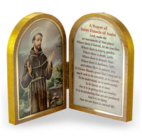 St. Francis of Assisi Diptych Standing Plaque with Prayer - Patron of Animals