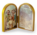 Holy Family Diptych Standing Plaque with Family Prayer Hirten 1204-361