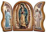 Our Lady of Guadalupe Triptypch - Wood - Made in Italy Hirten 1205-895