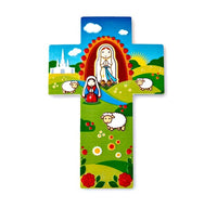 "Little Drops of Water 5"" Our Lady of Lourdes Wall Cross"