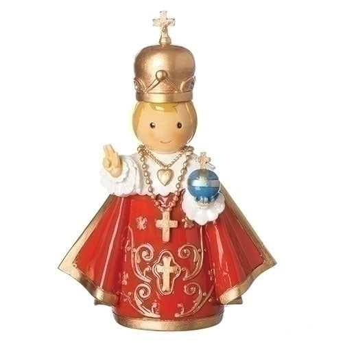 "Infant of Prague 4.25"" Statue - Little Drops of Water Series"