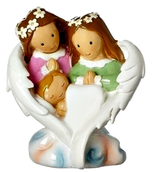 Guardian Angels & Newborn Baby Little Drops Of Water Statue Figure Baptism Gift Roman 12698
