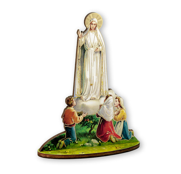 Fratelli Bonella Our Lady of Fatima Statue Figure Wood