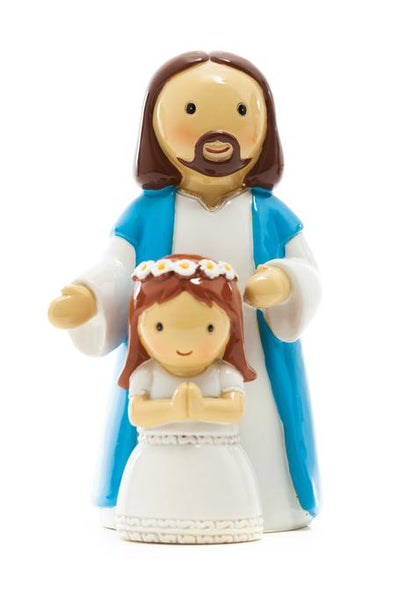 "First Communion Girl with Jesus Little Drops of Water 3.5"" Figure 185243YX"