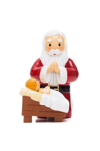 "Santa Praying at Manger ""Little Drops Of Water"" Statue Figure 185614YX"