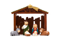 Nativity Set by Little Drops of Water - Stable with Holy Family 195100YX