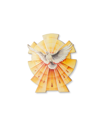 Holy Spirit Dove Polymer Tabletop or Wall Plaque - Made in ITALY - Confirmation 2327 Fars