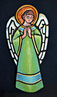 Praying Angel Green Ceramic Handcrafted Tile Plaque BY Sisters of St. Francis