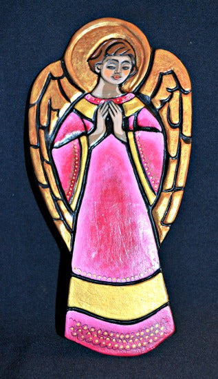 Praying Angel Ceramic Handcrafted Tile Plaque BY Sisters of St. Francis