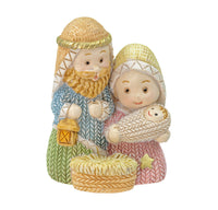 "Resin Holy Family 2"" Figure Christmas Nativity Hirten 251009"
