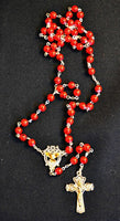 Holy Spirit Red Confirmation Rosary with Prayer Card Set Religious Art 26-6000-CF