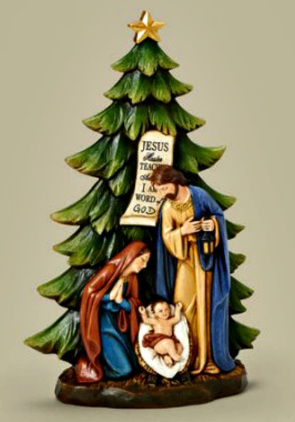 "Christmas Tree with Holy Family 13"" Figure Roman 31110"