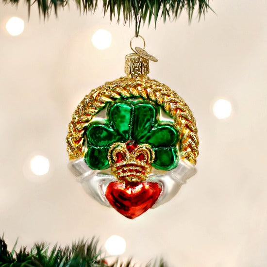 Irish Claddagh Old World Christmas Ornament - Celtic