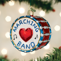 Marching Band Drum Old World Christmas Ornament