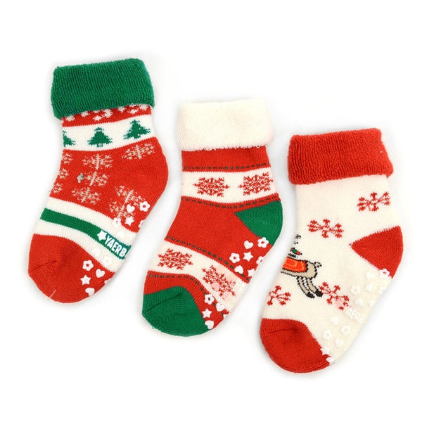 Infant Baby Christmas Socks 3 Pair Pack