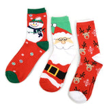 Women's Christmas Holiday Socks 3PR One Size Fits Most Santa Snowman Reindeer