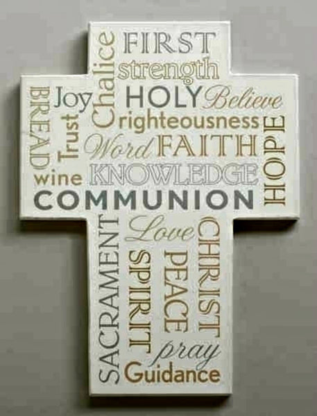 "First Communion Word Wall Cross 7.75"" Roman 40501"