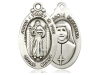 Sterling Silver Divine Mercy Necklace Jesus I Trust in You by Bliss 4145DMSS