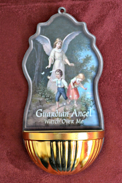 Guardian Angel Plastic Holy Water Font Religious Art 45-700-GA