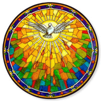 Holy Spirit Dove Stained Glass Suncatcher Sticker Window Cling