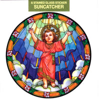 Divino Nino Stained Glass Suncatcher Sticker Window Cling