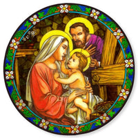 Holy Family Stained Glass Suncatcher Sticker Window Cling