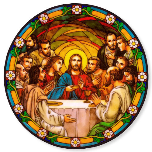 Last Supper Stained Glass Suncatcher Sticker Window Cling