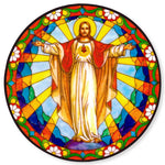 Risen Christ Stained Glass Suncatcher Sticker Window Cling