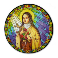 St. Therese of Lisieux Stained Glass Suncatcher Sticker Window Cling