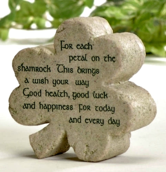 Irish Celtic Shamrock Shaped Plaque w/ Irish Blessing 47266