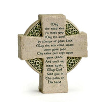 "Celtic Cross with ""May the Road Rise to Meet You..."" Standing Plaque"