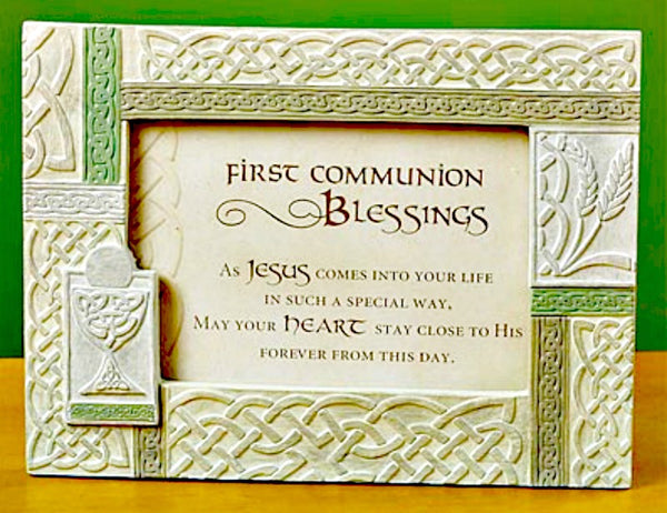 Celtic First Communion Irish Photo Frame 55940T Cathedral Art