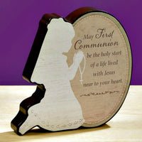 Copy of First Communion Standing Plaque for Girl Abbey Press 56530AU