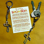 Confirmation Candidate & Sponsor Key Chain Thank You Gift Set Abbey Gift 56801T
