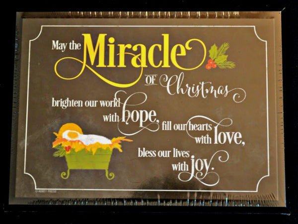 Miracle of Christmas Decorative Christmas Plaque Abbey Press 57186U