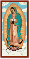 Our Lady of Guadalupe Icon 5x10 Wooden Plaque by Monastery Icons Made USA 573LG