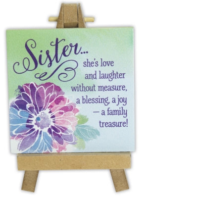 Sister She is Love and Laughter... Plaque and Easel