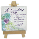 daughter is an angel God sends Plaque by Ganz