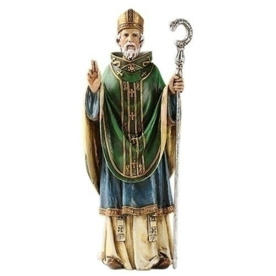 "St. Patrick of Ireland 6.5"" Statue Figure by Joseph's Studio Roman 60695"