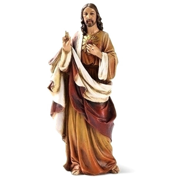 "Sacred Heart of Jesus 6.25"" Statue Figure by Joseph's Studio Roman 60698"
