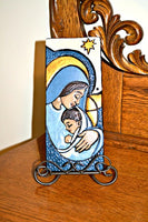 Madonna & Baby Jesus Ceramic Handcrafted Tile Plaque BY Sisters of St. Francis