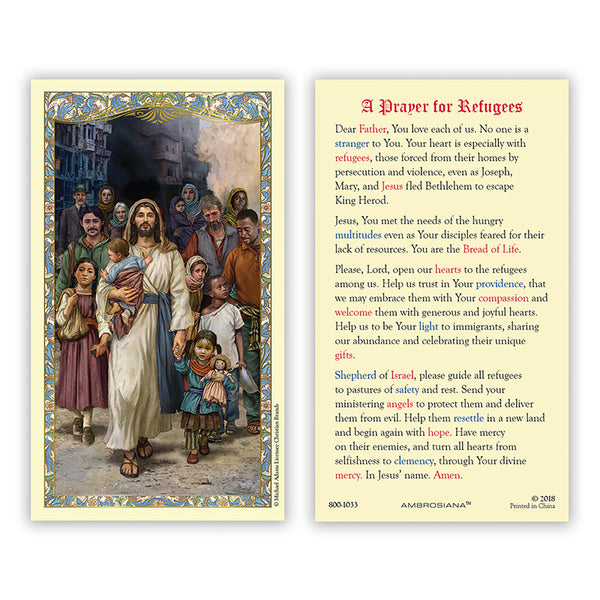 Prayer for Refugees Laminated Card with Michael Adams Artwork