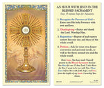 Eucharistic Adoration Instruction Holy Card Christian Brands 800-1055