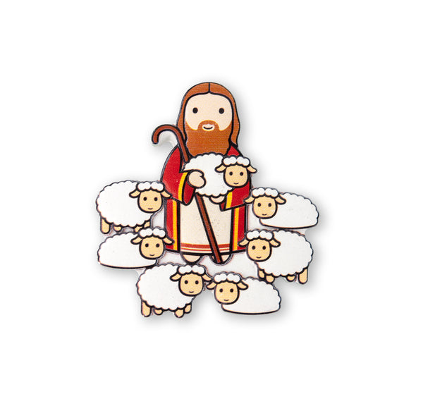Jesus the Good Shepherd Little Drops of Water 3-D Magnet Hirten 836-103