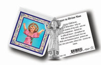 Pocket Size Divino Nino Metal Statue & Prayer Card