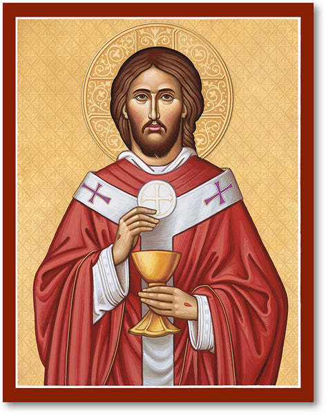 Jesus the High Priest Icon 8x10 Print Unframed by Monastery Icons 902LGU